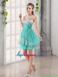 Sweetheart A Line Mother Dress with Sequins and Handle Made Flowers