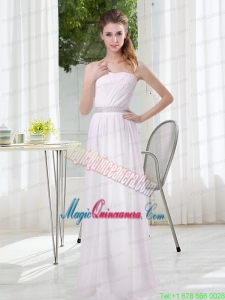 2015 Simple Empire Ruching Mother Dresses in White