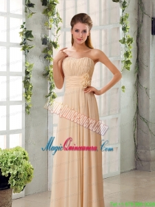 Champagne Ruching Chiffon Mother of the Bride Dresses with Sweetheart