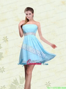 Strapless A Line Ruching Sequins Chiffon Mother of the Bride Dresses