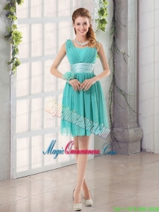 Straps Ruching Sweetheart A Line 2015 Elegant Mother Dress for Quinceanera