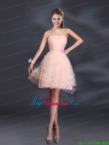 Tulle Appliques Mini Length 2015 Mother Dresses with Halter