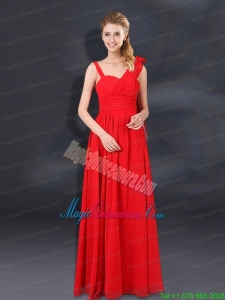 2015 Ruching Empire Mother Dress for Quinceanera with Asymmetrical