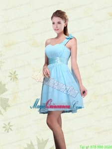 A Line Ruching Chiffon Mother Dress for Quinceanera with One Shoulder