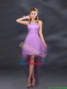 Appliques and Ruffles A Line Strapless Mother Dress for Quinceanera