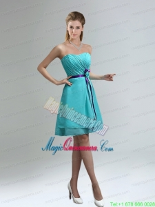 Classical Blue And Purple Sweetheart Mother Dress for Quinceanera with Ruches