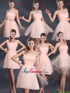 Baby Pink Mini Length 2015 The Most Popular Mother Dress for Quinceanera