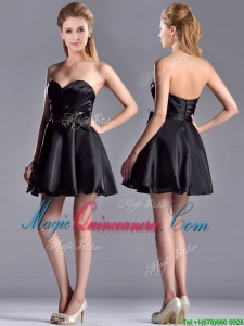 Exquisite Bowknot Organza Short Dama Dress with Zipper Up