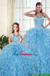2015 Pretty Sweetheart Baby Blue Princesita Dresses with Beading