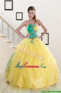 Classical Multi Color Quinceanera Dresses with Hand Made Flowers