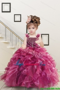 a7b171fa461  212.37  96.69  Custom Made Burgundy Little Girl Dress with Beading and  Ruffles for 2015