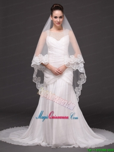 Lace Appliques Tulle Graceful Wedding Veil