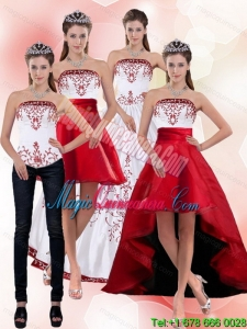 2015 Dramatic Strapless Quinceanera Dress with Embroidery