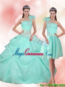 Fashion Apple Green Quinceanera Dress with Appliques