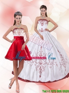 Fashion Strapless 2015 Perfect Quinceanera Dress with Embroidery