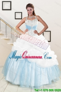 2015 Multi Color Dresses for Sweet 15 Quince with Pick Ups and Beading