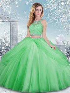 New Arrival Clasp Handle Quinceanera Gowns Beading and Lace Sleeveless Floor Length