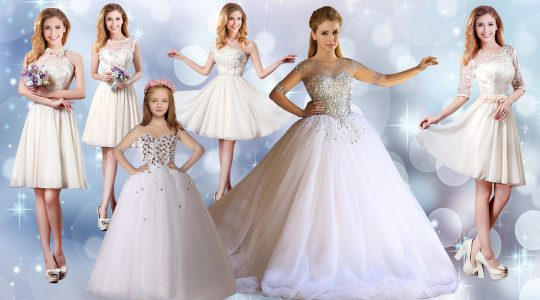 Deluxe Floor Length Lace Up Vestidos de Quinceanera White for Wedding Party with Beading