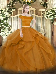 c2abee4a472 Fashionable Brown Sweet 16 Quinceanera Dress Military Ball and Sweet 16 and  Quinceanera with Appliques and