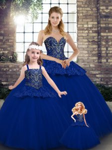 Unique Sleeveless Lace Up Floor Length Beading and Appliques 15th Birthday Dress