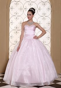 Popular Sweetheart Baby Pink Dress for Quince in Comitancillo
