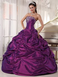 Customize Purple Appliques Quinceanera Dresses Pick-ups for Halifax