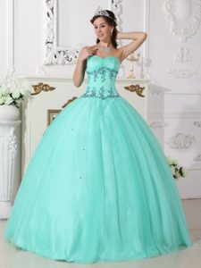 2014 Sweetheart Beaded Appliques Sweet 15 Dresses Tulle in Fairbanks