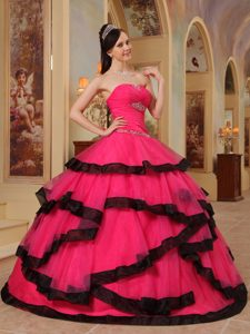 Red Strapless Quinceanera Gown Dress with Beading Decoration for 2013