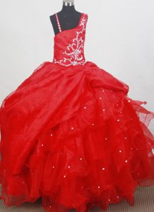 Beaded Classical Floor-length Ball Gown Little Girl Pageant Dress