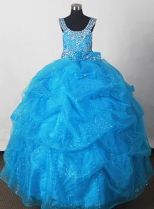 2012 Pretty Little Girl Pageant Dresses With Pick-ups and Beading