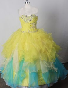 Brand New Beading Little Girl Pageant Dress Sweetheart Neckline