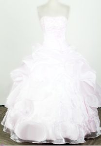 Lovely Organza with Beading Little Girl Pageant Dresses in Florida