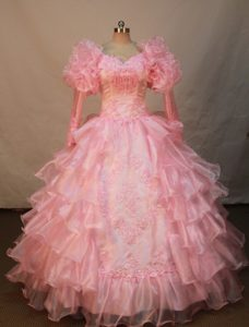 Watermelon Ruffled Layers for Flower Girl Pageant Dress Sleeves Style