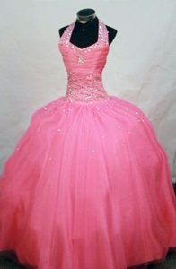 Watermelon Halter Pageant Dresses Beaded in Lincolnshire