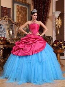 Red and Blue Lace-up Quinceanera Dresses Gowns Altdorf Switzerland