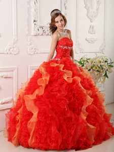Beading and Ruffles Accent Dresses for a Quince in Multiple Colors