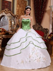 Two-toned Ball Gown Embroidery Quinceanera Dresses on Sale