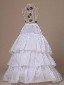 Hot Selling Taffeta Brush Train Wedding Petticoat
