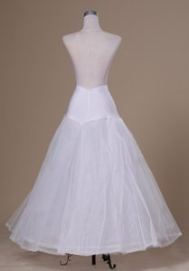 Beautiful A-line Floor-length Tulle and Organza Wedding Petticoat