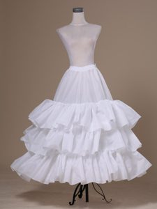 White Tulle Ball Gown Floor-length Petticoat