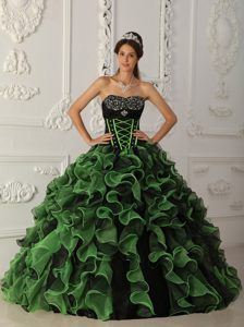 Brand New Ruffled Multi-color Dresses for Sweet 15 Ball Gown
