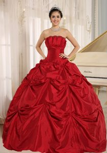 2013 New Wine Red Ball Gown Floor-length Quinceanera Dress