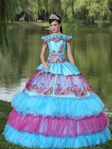 Traditional Off-the-shoulder Multi-color Dresses for Sweet 16