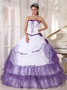 Hot Sale Two-toned Ball Gown Embroidery Quinceanera Dresses