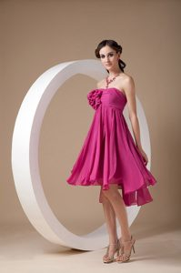 Strapless Mine-length Chiffon with Flowers Dama Dress in Bergen