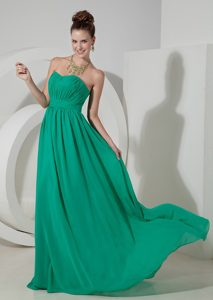 Turquoise Empire Strapless Brush Train Dresses for Damas in Dunedin