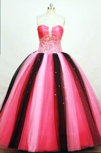Cheap Multi color Tulle Beading Quinceanera Dresses Ruched