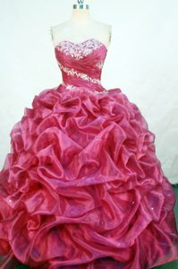 2013 Sweetheart Appliques Pick-ups Quinceanera Gown in Red