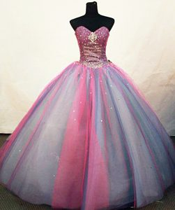 Cornwall Multi color Sweetheart Quinceanera Dress Sequined