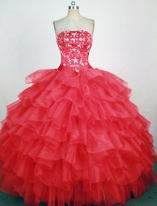 Berkshire Hot Pink Beaded Quinceanera Dress with Ruffles